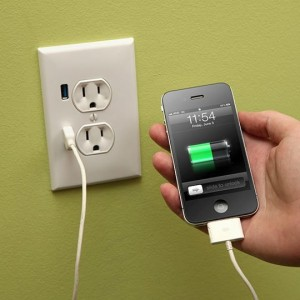 Wall outlets with USB charging ports