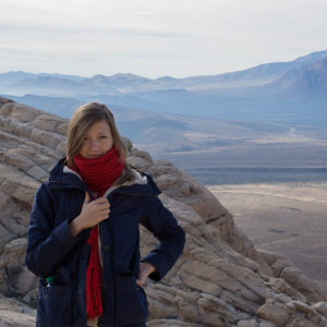 Kseniia Shnyreva, Red Rock Canyon near Las Vegas, Nevada