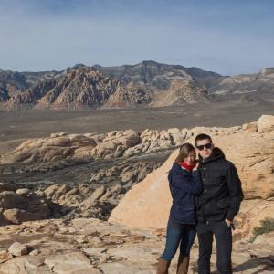 We at Red Rock Canyon, Las Vegas, Nevada